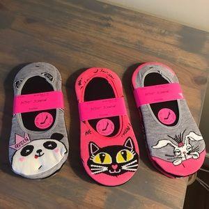 Betsey Johnson socks no show footies 9 pair new
